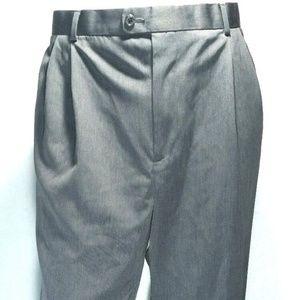 Perry Ellis Mens Size 38x30 Pants Grey Dress Slack